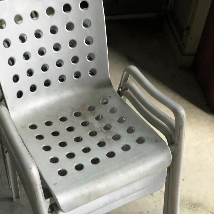 restauro sedie in alluminio