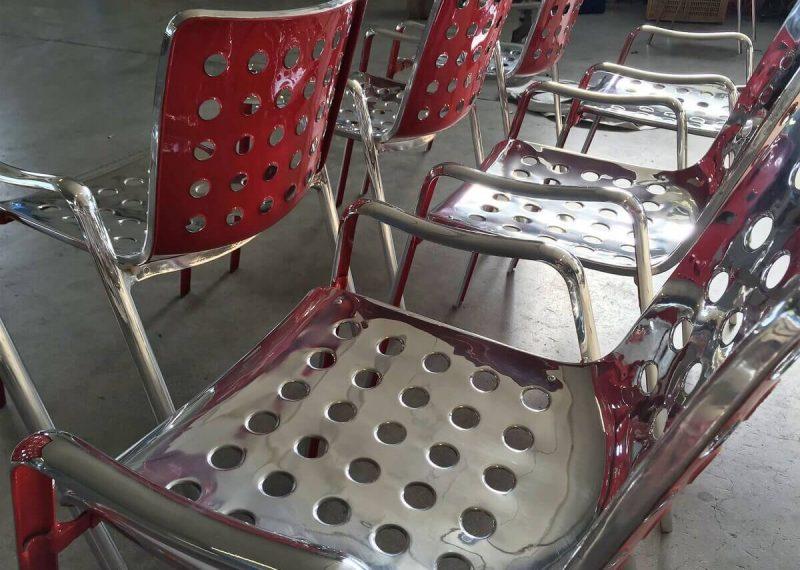 restauro sedie in alluminio a brescia
